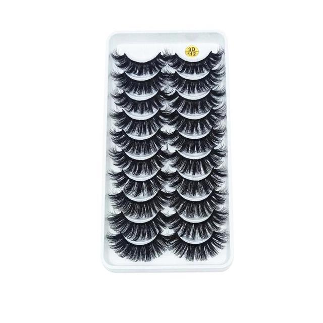 New 5/10 pairs of 3D imitation mink eyelashes natural long false eyelashes makeup lashes eyelash extension maquiagem faux cils 2