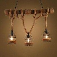 Postmodern Resin White/Black Monkey Loft Vintage Hemp Rope Pendant Light for Replicas Resin Seletti Hanging Monkey Lamp