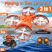 Eachine E016F 3 in 1 EPP Flying Air Boat Land Driving Mode Detachable One Key Return RC Quadcopter RTF