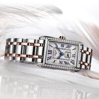Top Luxus Marke Frauen Diamant Uhr Damen Quarz Armbanduhr Weibliche Uhr Auf Verkauf