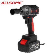Brushless Impact Wrench Power-Tool Li-Ion-Battery 288VF ALLSOME Charger-Sleeve 350NM
