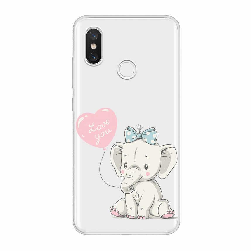 ciciber for Xiaomi MI 9 8 A2 A1 6 5 X C S Plus Lite SE Soft TPU Phone Cases for MIX MAX 3 2 1 S Pro PocoPhone F1 Elephant Coque