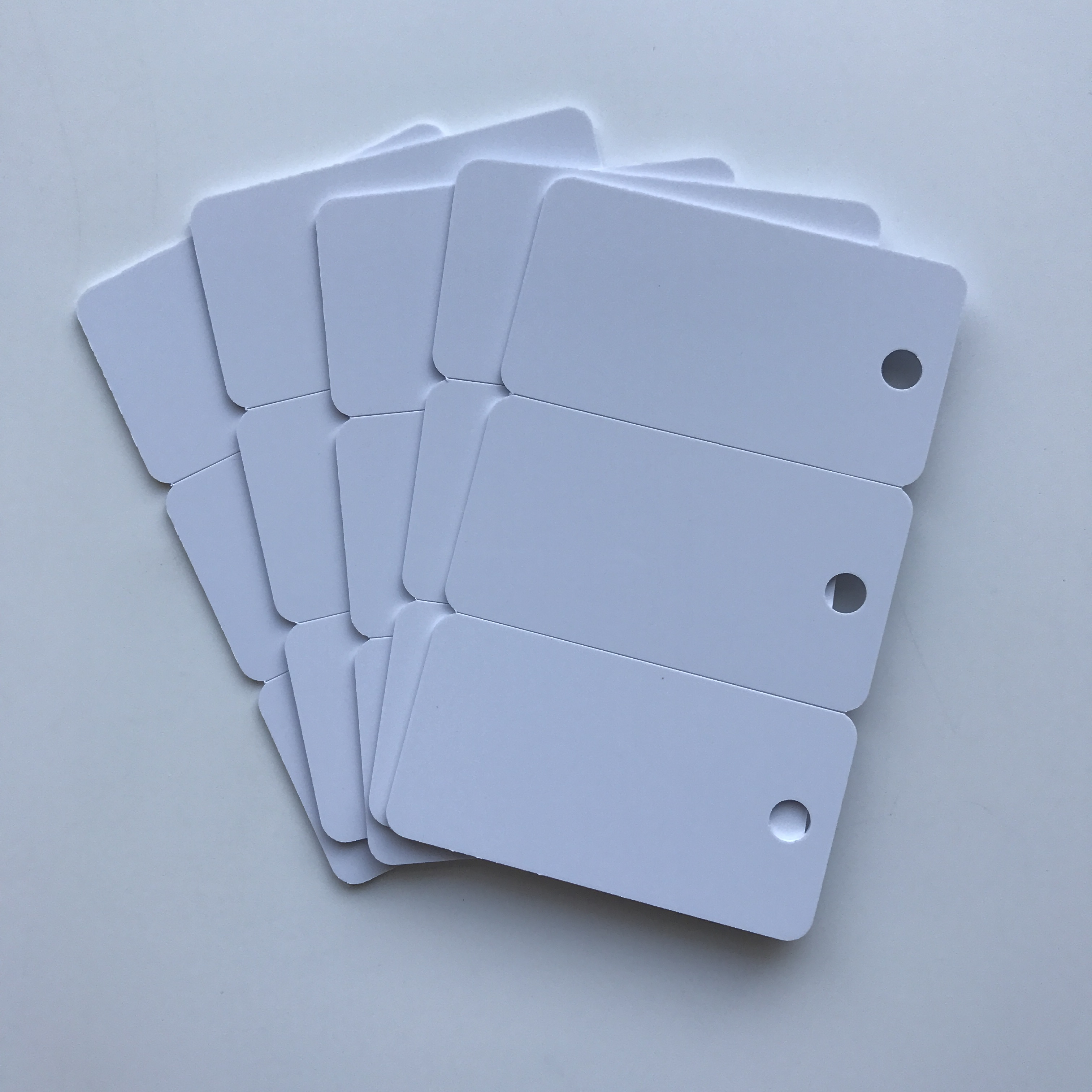 100PCS High Quality Plastic Blank Inkjet Printable 3up PVC Card for Access Control by Epson or Canon Printers