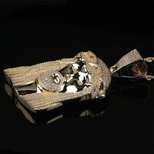 Image 2 - TOPGRILLZ nouveau pendentif de corail jésus, bijoux hip hop, collier de pierres CZ à la mode, lien en Zircon cubique, cadeau pour hommes et femmes