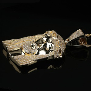 Image 2 - TOPGRILLZ новые кулоны с изображением Иисуса Королла хип хоп ювелирные изделия модное ожерелье с фианитами кубические циркониевые звенья для мужчин и женщин подарок