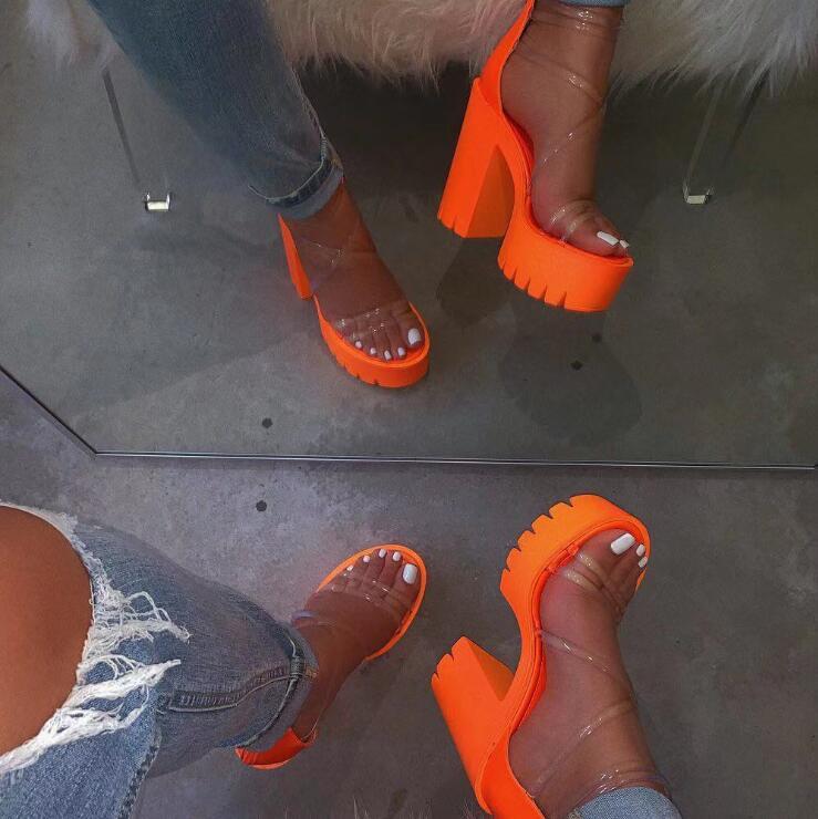 H2c8581625f0b4a04b5e87e6b8257612d2 Autumn new women's high-heeled cross PVC straps outdoor travel sandals rubber bottom non-slip slippers increased sandals