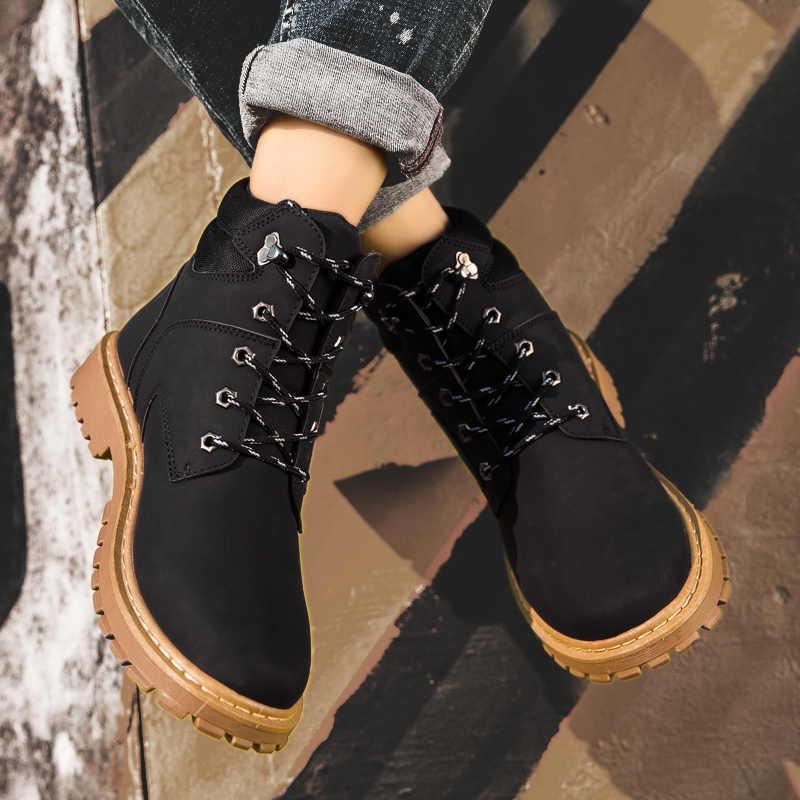 Năm 2020 Nam Giày Thể Thao Thoáng Khí Cổ Chân Giày Dr Giày Da Thời Trang Huấn Luyện Viên Ra Màu Trắng Sang Trọng Thiết Kế Huấn Luyện Viên