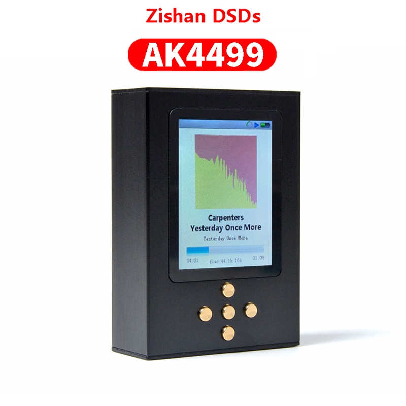 NICEHCK Zishan DSDs AK4499 DAC HIFI Music Player Flagship MP3 DAP AD8620 MUSES02 Portable 2.5mm Balanced 4499 AK4499EQ Type-C