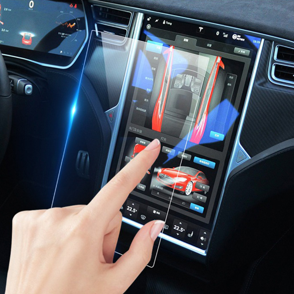 Car Navigation GPS Screen Protector Film Anti-Scratch For Tesla Model X Model S Navigation Screen Protection