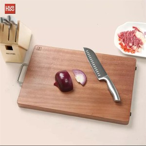 Image 4 - Original Huohou Wood Chopping Block For Meat Fruit Vegetable Bar Kitchen Tools Ebony Wood Thick Cutting Board S L