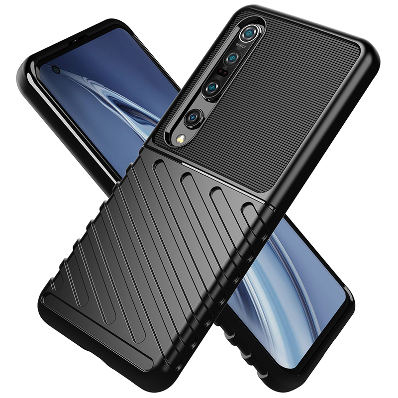 For Xiaomi Mi 10 Pro 5G Case Ripple Feel Soft Silicon Rubber Shockproof Phone Case For Xiaomi Mi 10 Pro 5G Back Case 6.67 Inch