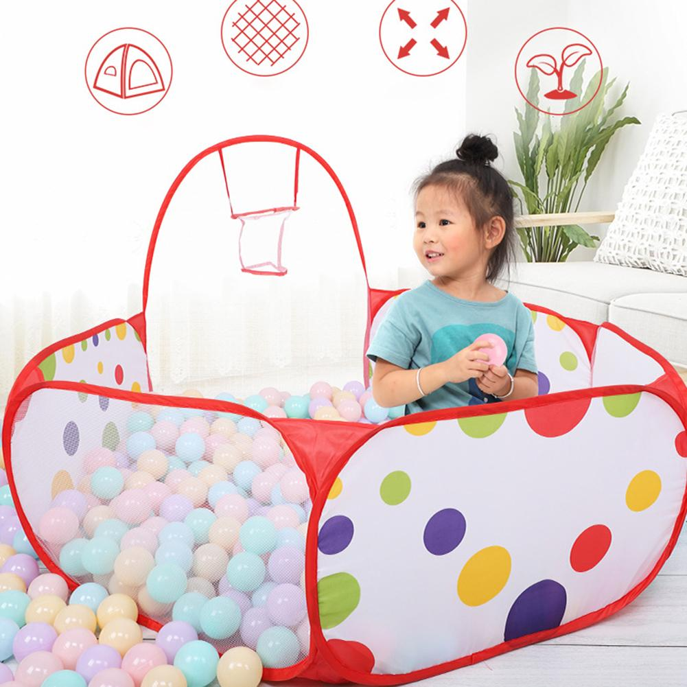 Foldable Indoor Children Basketball Shoots Ball Ocean Pool Play Tent Game House Kids Toy Gift