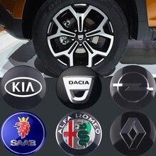Araba Styling 4 adet 56/60mm tekerlek merkezi lastik toz kapak Sticker Mitsubishi Lancer 9 10 Asx outlander 3 Pajero spor L200