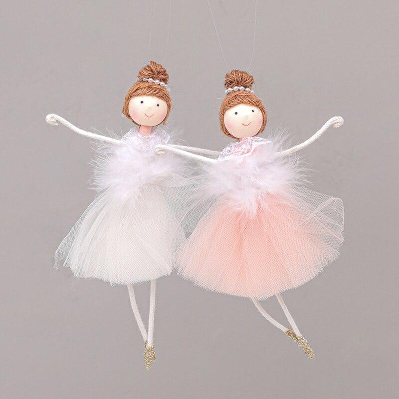 1PC Christmas Tree Hanging Pendant Christmas Net Yarn Plush Ballerina Girl Modeling Doll Pendant Christmas Tree Decoration Gifts