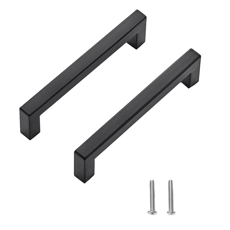 Kitchen Square Cabinet Handles Matte Black Cabinet Pulls Black Drawer Pulls Kitchen Cabinet Hardware Kitchen Handles,15 Pack 5 I