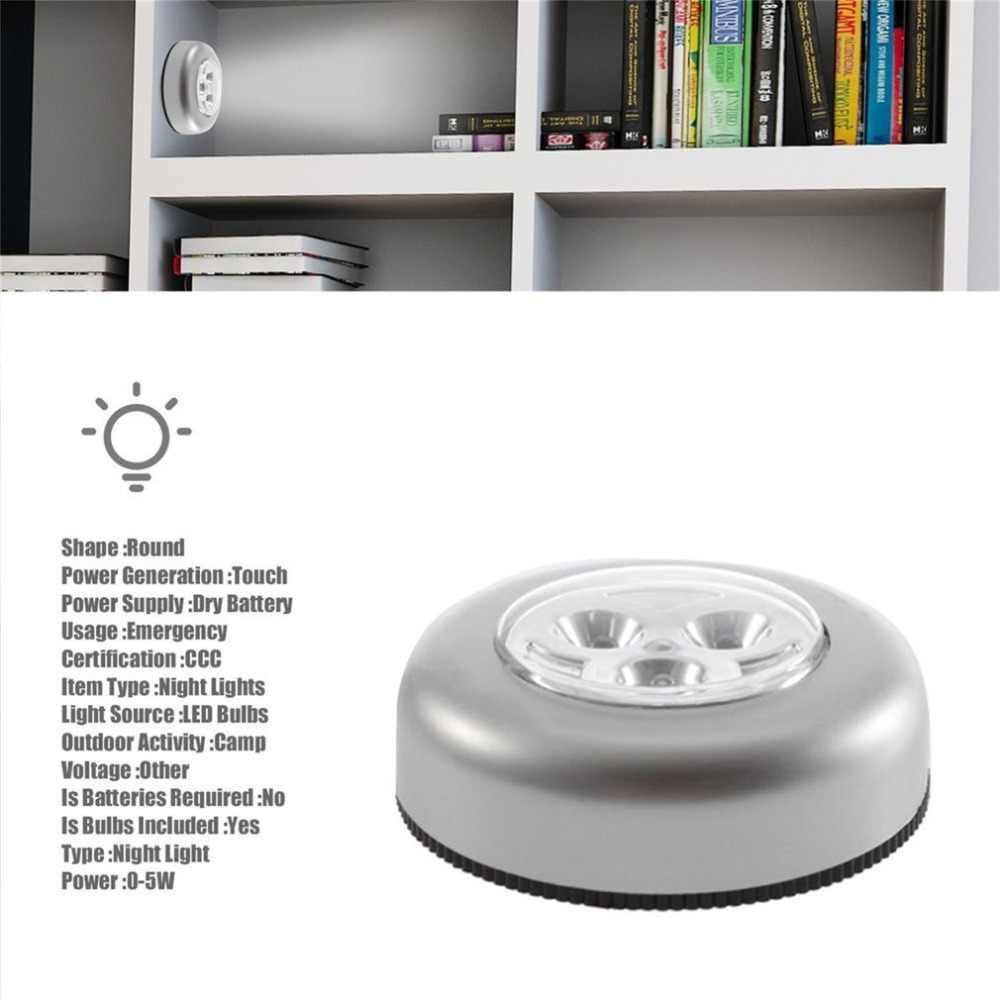 1 Máy Tính 3 Đèn LED Sỉ Đèn Tủ Bếp Tủ Quần Áo Chiếu Sáng Miếng Dán Tập Cảm Ứng Đèn Nhỏ Tủ Bếp Tủ Quần Áo Chiếu Sáng