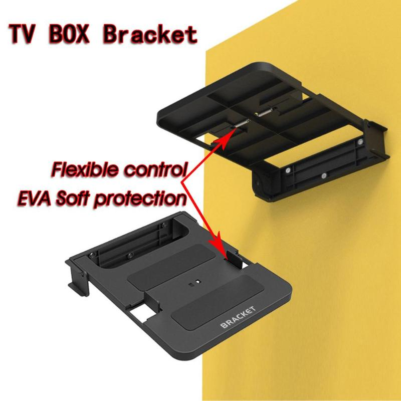 100-138mm Universal Mounted TV Box Stand Top Mount Wall Hanging Holder TV Bracket Bracket Racks Steady Support Top Box Router