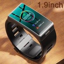 DM-12 relógio inteligente dos homens 1.9 Polegada 170*320 tela smartwatch feminino ip68 à prova dip68 água banda esporte freqüência cardíaca pressão arterial android ios