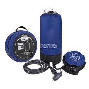 11Л ПВХ сумка для душа с мини распылительной головкой портативная солнечная наружная походная водная купальная баррель для пикника барбекю ...