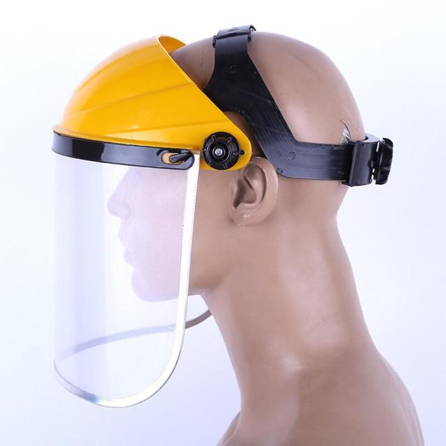 Anti-Saliva Splash Dustproof Mask Transparent PVC Safety Faces Shields Screen Spare Visors Head helmet Respiratory protection 5