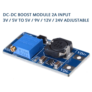 New DC-DC Boost Module 2A Boost Power Supply Board Step Up Converter Booster Input 3V/5V To 9V/12V/24V Adjustable MT3608 TXTB1 image