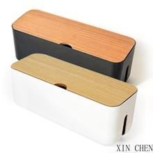 Cable Storage Box  Charger Wire Management Power Strip Wire Case Anti Dust Charger Socket Organizer Network Line Storage Bin