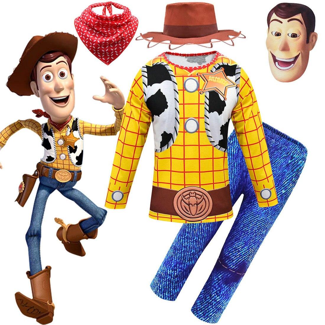 Spielzeug Geschichte 4 Woody Halloween Kostüme für Jungen Cosplay Karneval Kleidung Sets Kinder Kinder Party Kostüm Kleinkind Outfit für Jungen