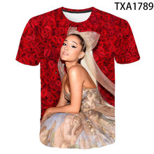 Summer New Ariana grande Fashion T-shirt Streetwear Boy Girl Kids 3D Printed Short Sleeve Casual Men Women Children Tops Tee(China)