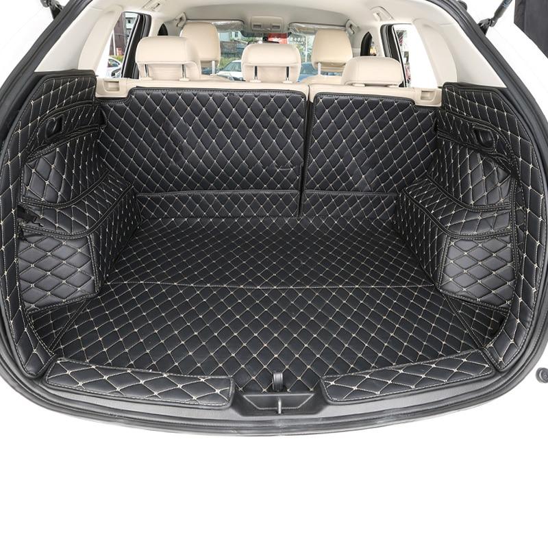 Lsrtw2017 для Mazda CX5, 2017-2018 2019 2020 Кожаный Автомобильный багажник коврик грузовой лайнер водонепроницаемый прочный загрузки аксессуары