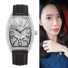 小型ファッションラインストーントップブランドの高級時計女性完全にダイヤモンドの女性の腕時計のクオーツ腕時計 relojes muje