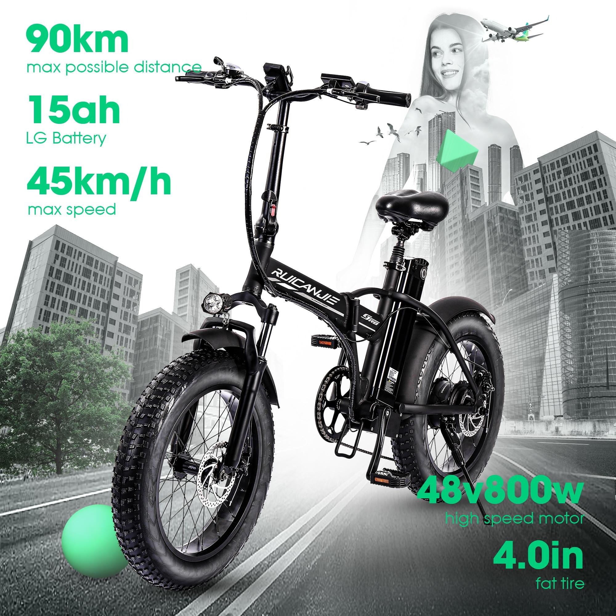 Electric bike MAX 45km/h  800W 500W 48V electric mountain bike vtt 4.0 fat tire Electric Bicycle beach ebike 6