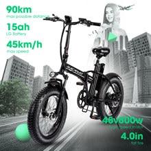Elektrische Fiets 45 Km/h 800W 500W Vet Band Mountainbike 7Speed Batterij 20