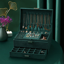 3-Layer Flannel Jewelry Organizer Box Large Capacity Storage Drawers Necklaces Earrings Rings Display Case with Lock for Women