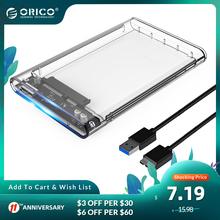 ORICO zewnętrzna obudowa dysku twardego 2 5 Cal przezroczyste USB3 0 typu C obudowa do twardego dysku narzędzie darmowa 5 gb s 4TB UASP obudowa dysku twardego 10 gb s tanie tanio CN (pochodzenie) SATA 2 5 Z tworzywa sztucznego 2139 2 5 inch HDD SSD (9 5mm and below) USB3 0 Micro B to Type-A Windows 2000 XP 7 8 10 Linux Mac OS 9 1 or above