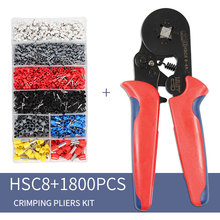 Self-Adjustable Crimping Plier +1800pcs Terminals kit AWG23-7 Wire Cable Tube Pliers Multi Hand Tool