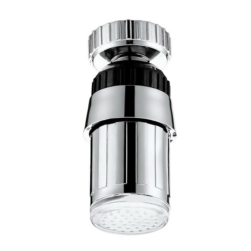 Water Tap Luminous LED Temperature Sensor Light Angle Adjustable Faucet PI669