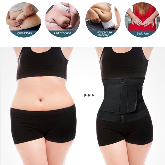 Neoprene Waist Trainer Corset Sauna Sweat Belt Slimming Body Shaper Abdominal Trimmer Shapewear Modeling Straps Weight Loss Faja 1