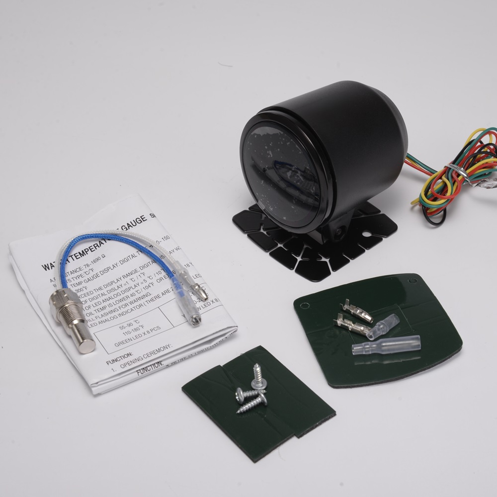 Neue EPman racing 52mm Smoked LED Digital Wassertemperatur Meter withSensor halterung Für FORD MUSTANG V8 ZU TK-GA50WAT