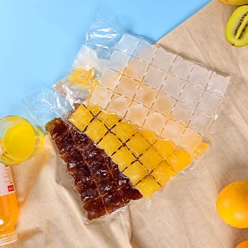 10Pcs Ice Cube Bags Ice-making Bag Self-Seal Disposable Faster Freezing Maker Transparent Ice Cube Trays Mold