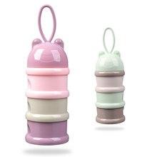 3 слоя лягушка стиль портативный ящик для хранения детского питания эфирные хлопья мультфильм сухое молоко коробки малышей Дети формула молоко Контейнер