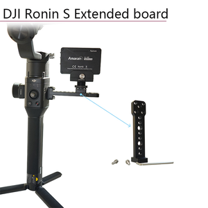 Image 2 - For DJI Ronin S Accessories Extended Board Bracket Alloy External Mount Plate Monitor Holder For DJI Ronin SC Handheld Gimbal