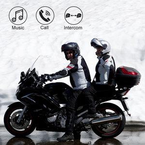 Image 5 - Fodsports 2 pcs BT S3 אופנוע קסדת אינטרקום Moto קסדת Bluetooth אוזניות עמיד למים Intercomunicador BT האינטרפון FM