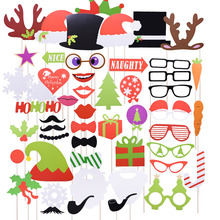 Lips-Hats Glasses Party-Supplies Mustache Photo-Booth-Props Christmas-Decorations Funny