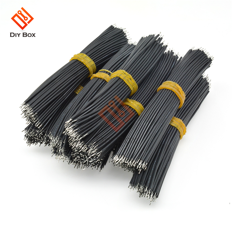 100Pcs 24AWG Dual-head Welding Wire 10CM Length Black Color Connecting Plating Line DIY Electronic 0.14mm Copper Tin Wire Lead