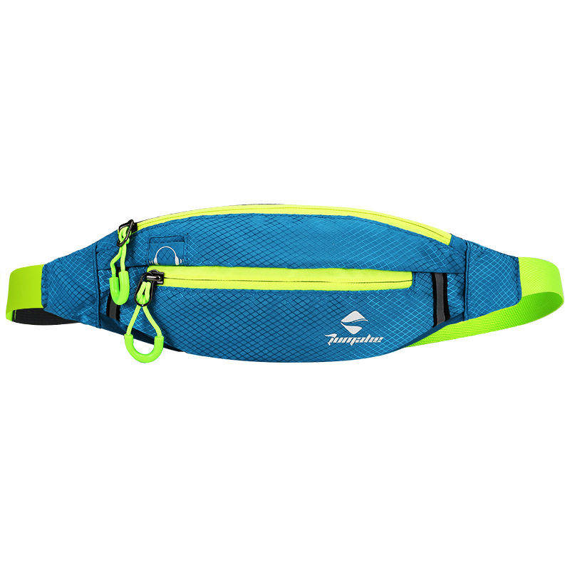 Jogging Waist Bag Travel Pocket Key Wallet Pouch Phone Holder Chest Marathon Bag Waterproof Nylon Sports Running Pockets Blue