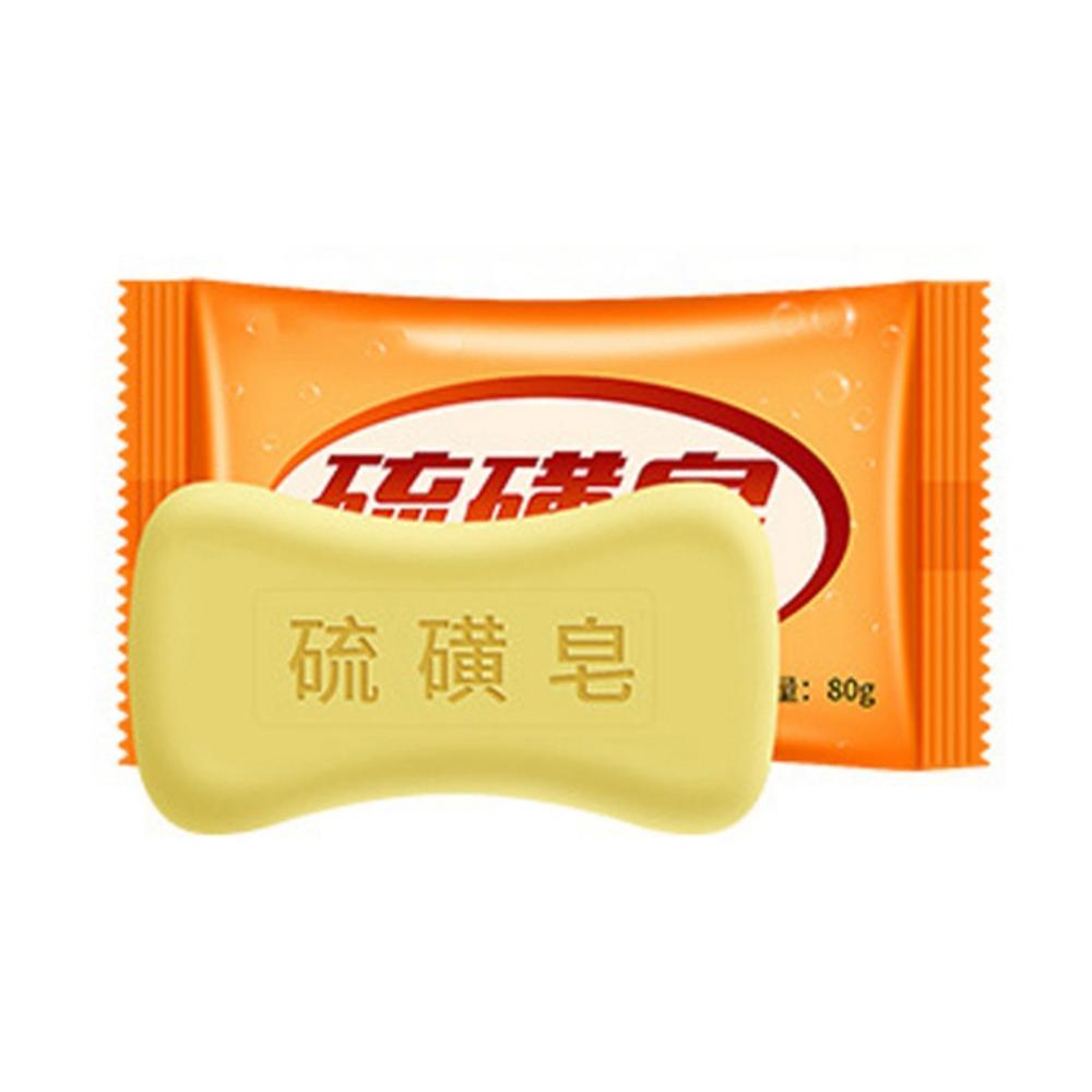 Sulfur Soap Control Oil Anti-mites Anti-acne Cleaning Pores Brighten Skin Color Face Body Soap Unisex Soap-s