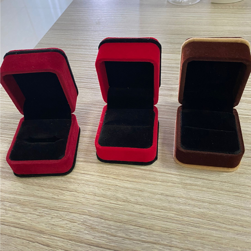 Tungsten Wedding Ring's Boxes 4 Colours Engagement box Along with Rings to selling 3