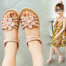 Girls Sandals 2021Summer New Children Fashion Soft Bottom Princess Shoes Little Girl Baby Pink Red Sandals Kids Shoes Wild Style