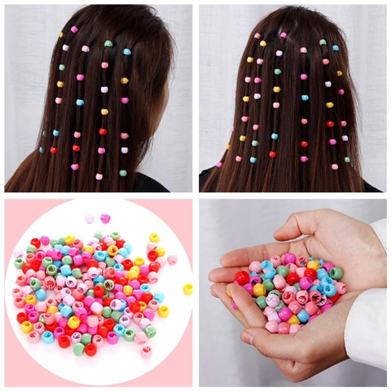 10/20/40pcs Women Girls Cute Mini Hair Claw Clips Candy Color Plastic Hairpins Hair Braids Maker Beads Hair Accessories   Headwear