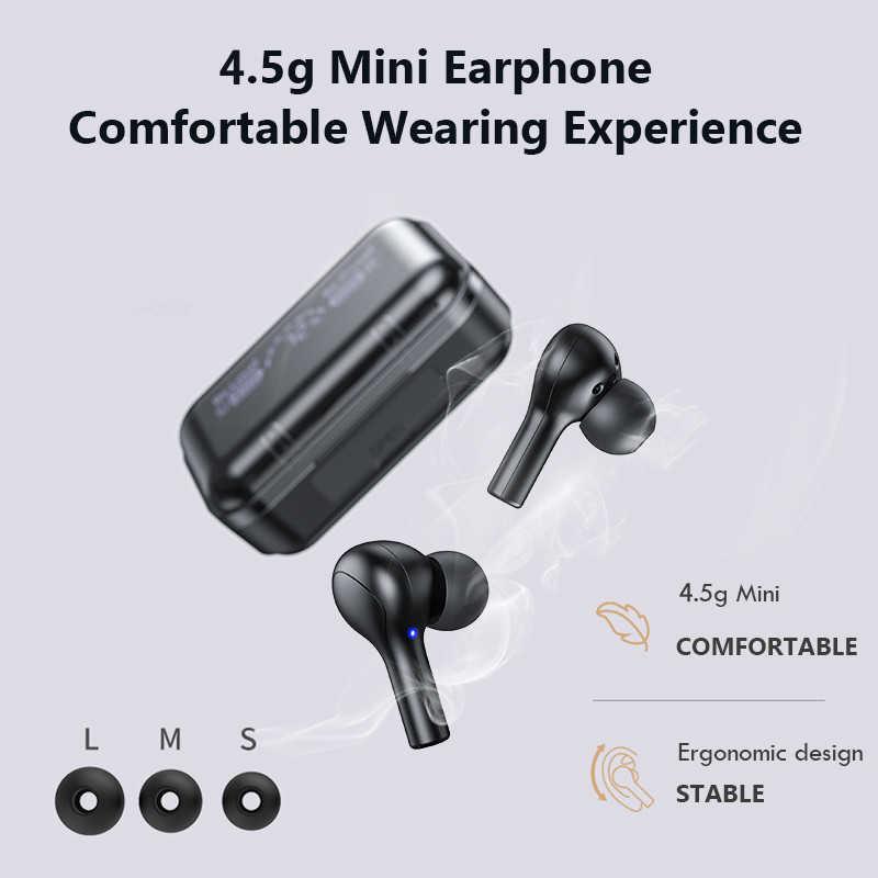 2020 หูฟังบลูทูธหูฟัง,Touch ControlหูฟังTWSกันน้ำเกมกีฬาGYMชุดหูฟังPK T5 ไมโครโฟน